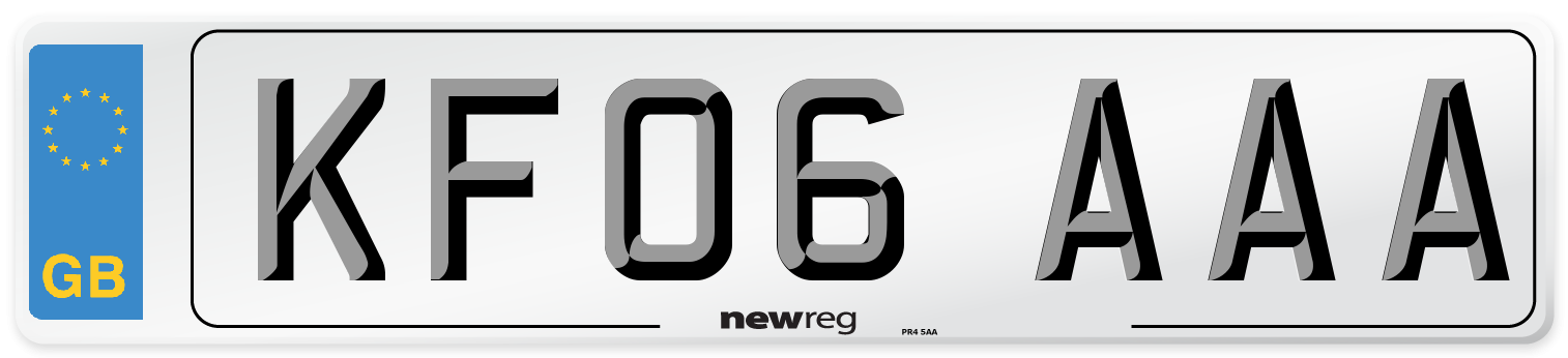 KF06 AAA Number Plate from New Reg